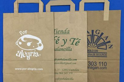 Bolsas de papel asa plana personalizadas